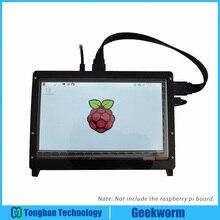 Geekworm פטל Pi 4 דגם B/ 3B 7 אינץ 1024*600 TFT מגע קיבולי מסך + אקריליק סטנדר + כבל HDMI + USB כבל ערכות
