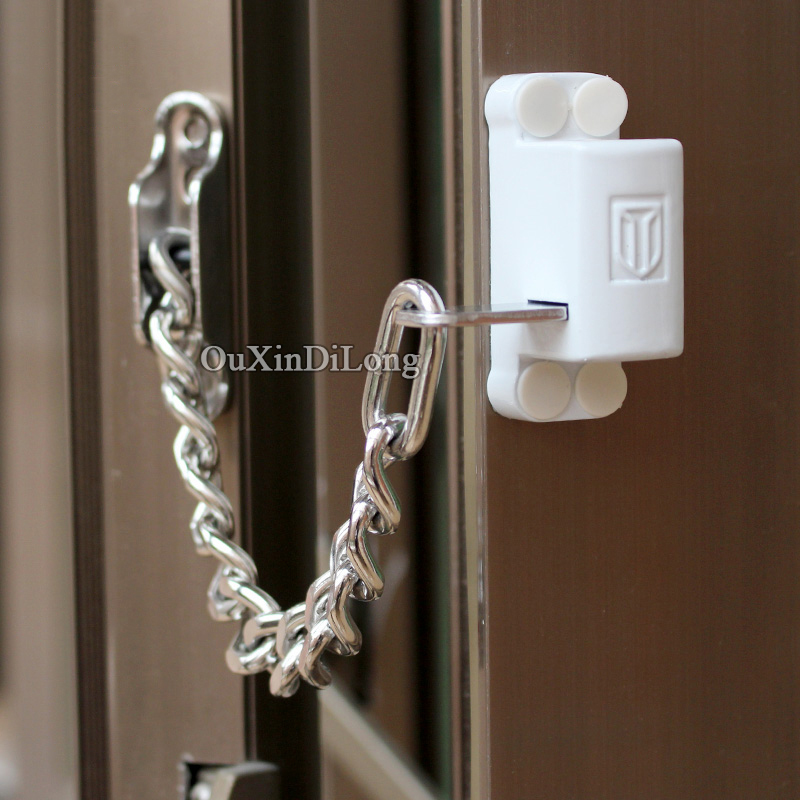 цена 2018 New Window Door Restrict Chain Locks Door Guard Bolt Lock Children Safety Protection Lock Home Anti-theft Security Locks