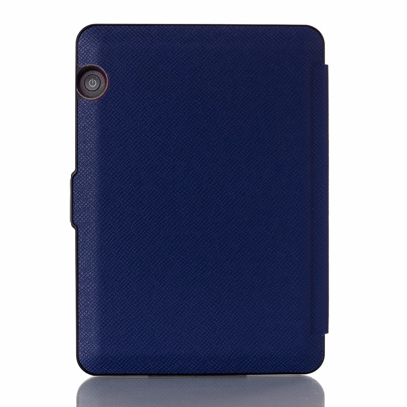 darkblue pu leather ebook case for amazon kindle voyage ereader case