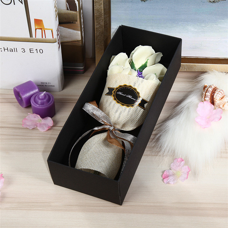 Dropwow 5pcs Rose Soap Flower Gift Box To Send Girlfriend Birthday