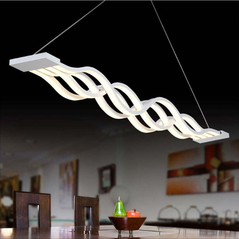 New Creative modern LED pendant lights Acryl Wave hanging lamp dining room living room kitchen pendant lamp new creative modern led pendant lights wave hanging lamp for dining room living room acrylic pendant lamp 85 265v lampadario