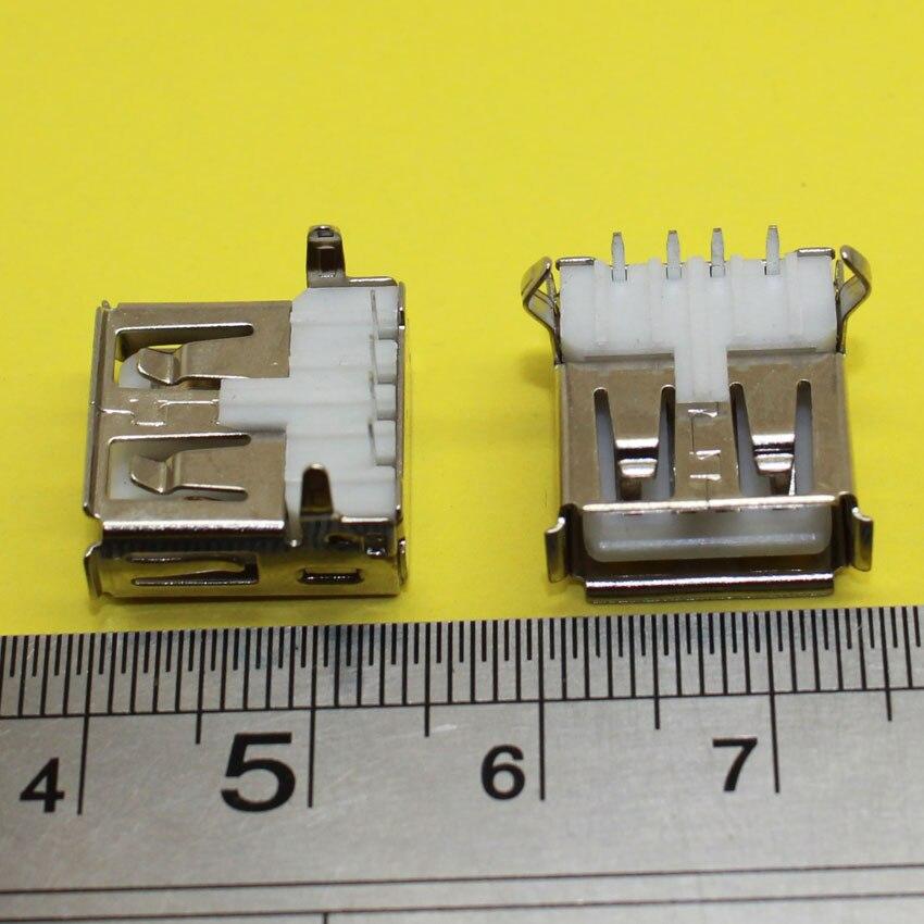 LOT 2 pièces Connecteur USB 3.0 Femelle Coudé 90 degrés Prise Angle à souder DIY
