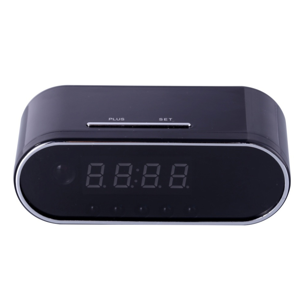 1080P H.264 Table Clock Camera Alarm Setting Mini Camera IR Night Vision Wifi Cam IP Clock Camera Mini DV DVR Camcorder(US Plug)