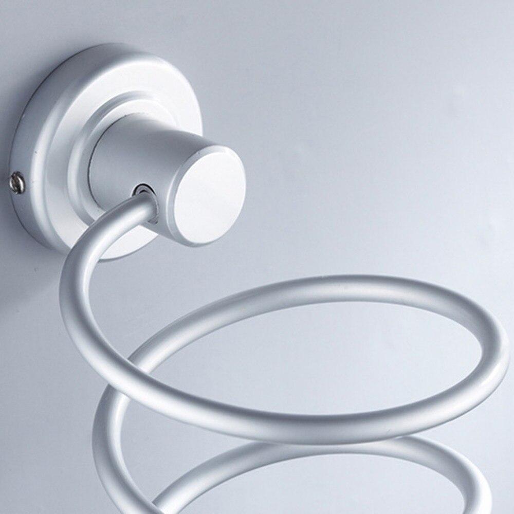 1 шт. Алюминий Ванная Комната Полка Настенная настенный фен стойки для хранения Фен Поддержка держатель спираль стенд