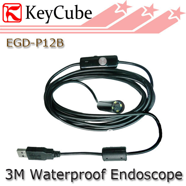 Free shipping,Mini 3M cable 10mm Lens Borescope USB Tube Snake Scope Inspection Camera with 4 LED ,Waterproof Endoscope
