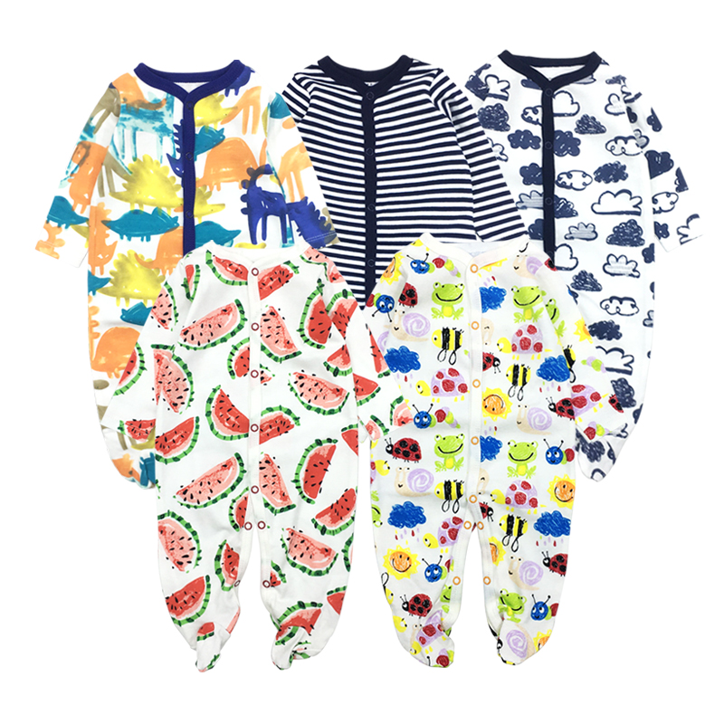 5Pcs Winter Baby Romper Boy Clothing Girl Clothes Newborn Jumpsuit Long Sleeves 100% Cotton Underwear Rompers Warm Costume