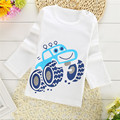 2017 spring new children's long-sleeved Baby 1-2 T Boys Girls T-shirt O-Neck 100%Cotton tees Kids White Clothes Character Cute