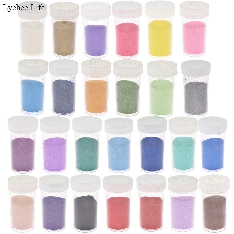 Lychee Life Multi-color Embossing Pigment Stamping Scrapbooking Craft Metallic Paint Emboss Powder
