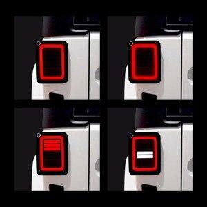 Image 2 - Eua/ue edição reverser freio sinal de volta led luzes traseiras lâmpada conjuntos traseiros para jeep wrangler jk 2 & 4 porta 2007 2017 ponto
