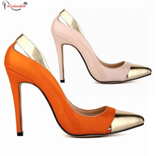 Summer Style Stiletto High Heel Sandal 2016 New Women Shoes 11 Cm Sexy Pointed Toe Heels Shoes Women'S Pumps SMYNLK-10018E
