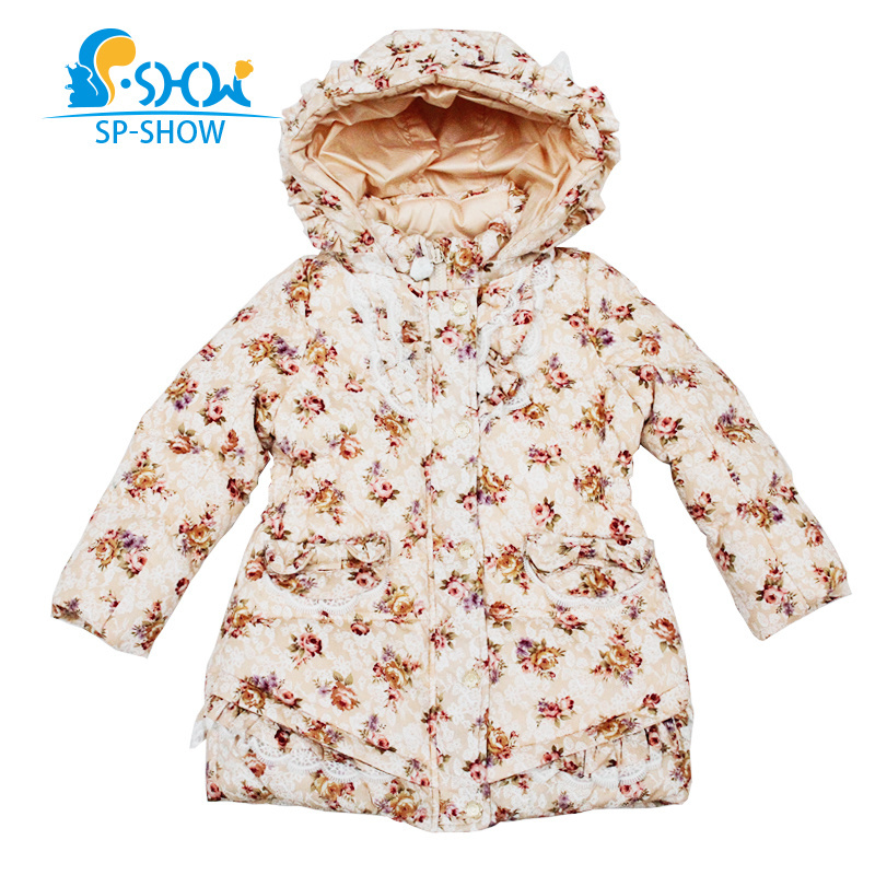 2018 SP-SHOW Winter Childrens Outwear Hooded Fashion Jacket Girl Coats Girl Clothing  Down And Parkas Printed 760482018 SP-SHOW Winter Childrens Outwear Hooded Fashion Jacket Girl Coats Girl Clothing  Down And Parkas Printed 76048
