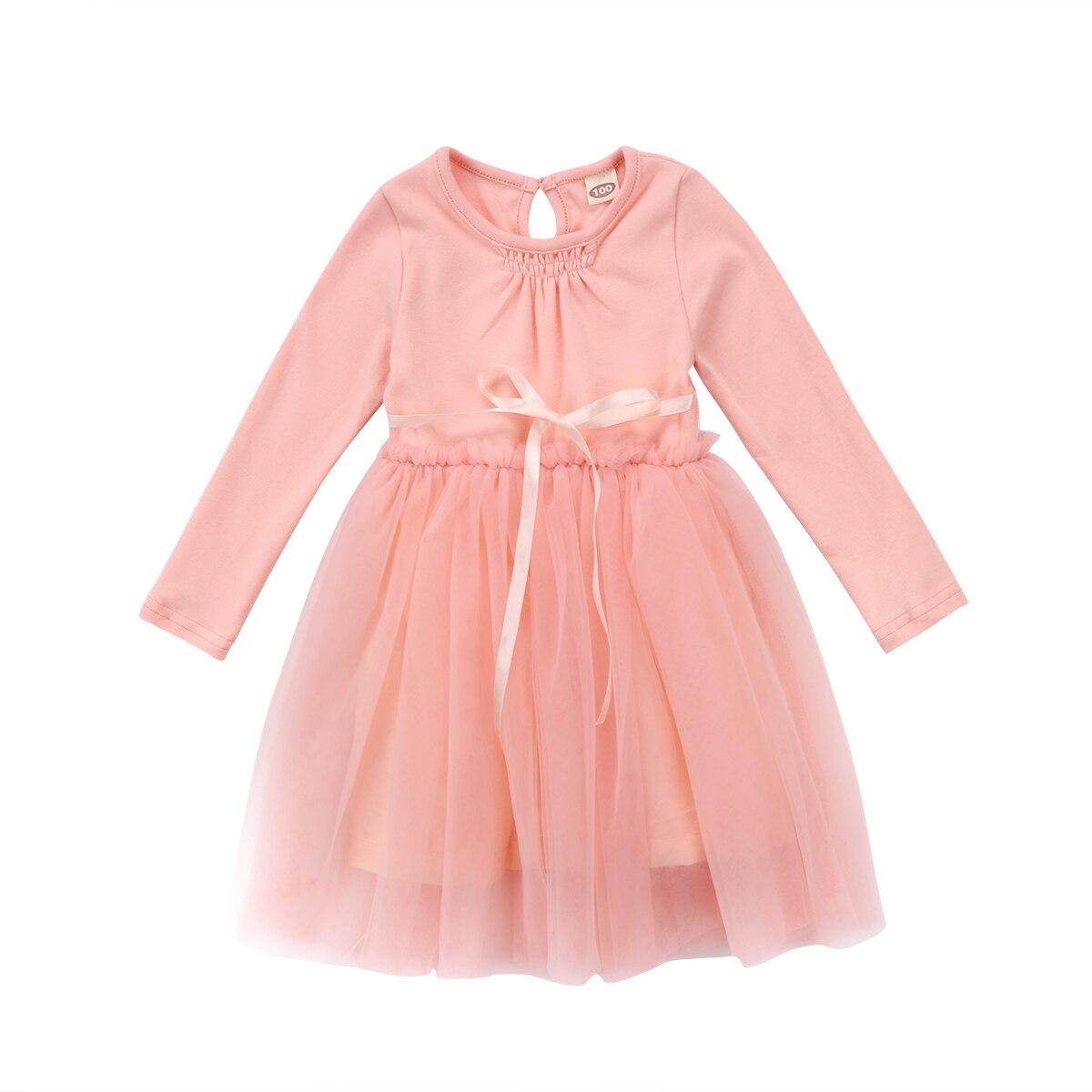 Baby Girls Kids Cloting Dresses Wedding Birthday Long Sleeve Tutu Mini Tiered Prom Princess Party Dress Girl цена 2017