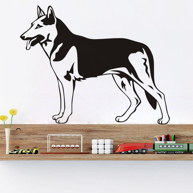 New Arrival Dog Vinyl Wall Stickers German Shepherd Art Wall Decal Home  Decor Living Room Removable