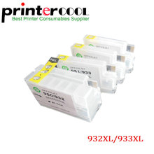 For HP932 For HP933 Refillable Ink cartridge for hp 932 933 for HP 6600 6100 6700 7110 7610 7612 7510 7512 with chip free shipping for hp 932 933 refillable ink cartridge with ink with permanent chips for hp officejet 7110 6100 ink jet printer