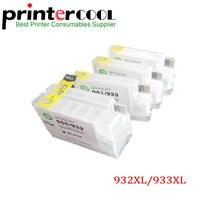 Einkshop 4 шт для HP 932 933 многоразовый картридж для hp 932xl 933xl 6600 6100 6700 7110 7610 7612 7510 с чипом