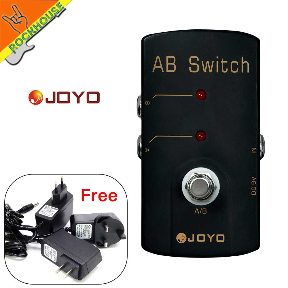 joyo ab box guitar aby selector a b switch guitar signal diverter amplifier line selector free. Black Bedroom Furniture Sets. Home Design Ideas