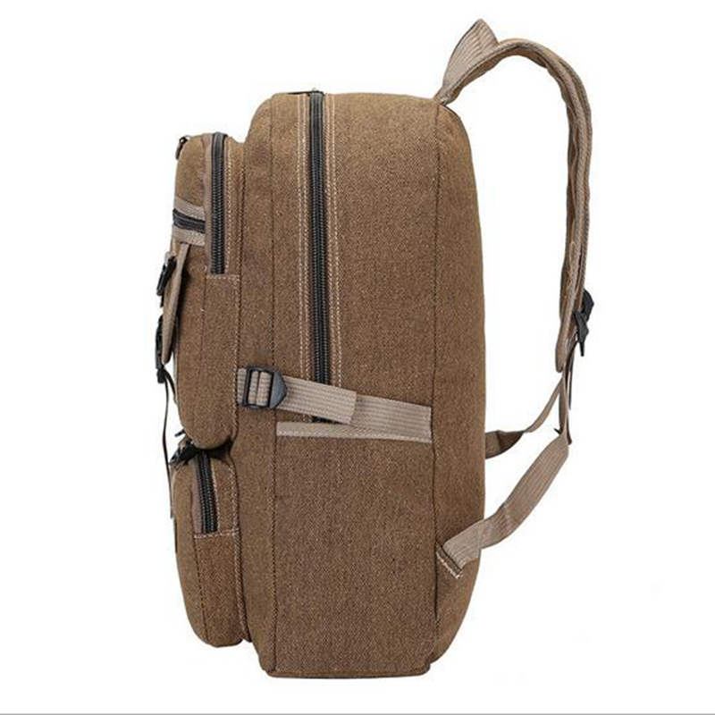 2018 New Design Large capacity Mens Canvas Backpacks Fashion Casual Schoolbag Teenagers Travel Rucksack Male Canvas Bag Mochila