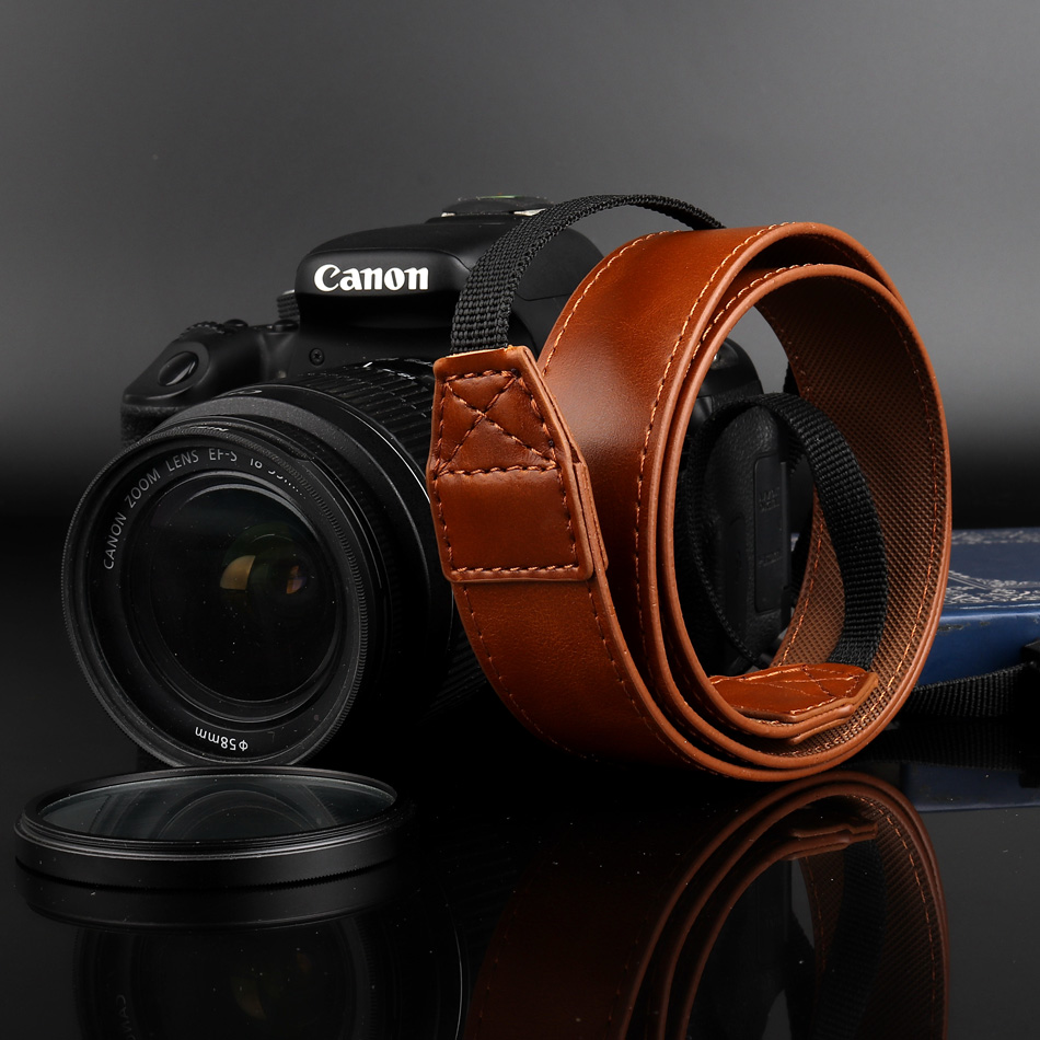 Correa de muñeca para Canon EOS 5ds R Nikon d3400 PU Cuero muñeca camilla Correa