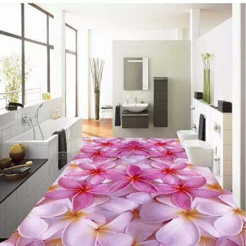 600x600mm 3D Splice Flower Bathroom Floor Tiles 3D Art