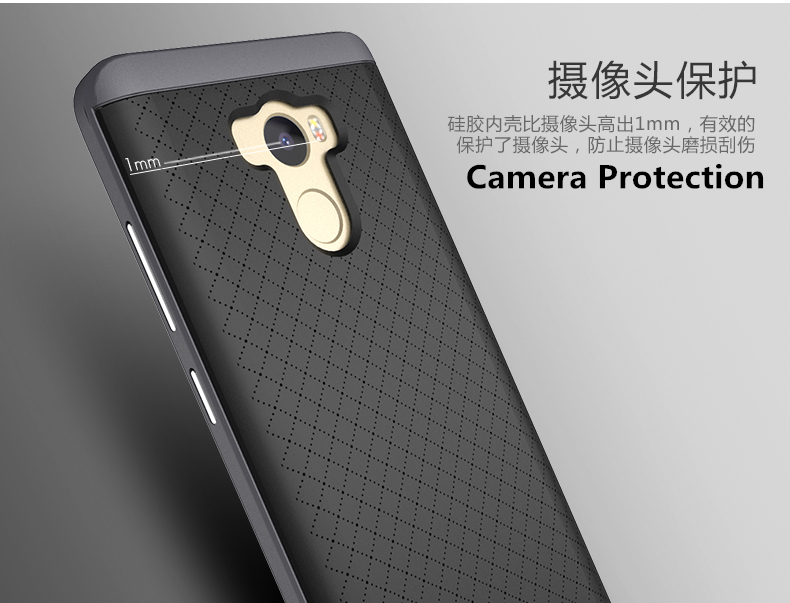 huge discount b0531 22806 US $4.99  iPaky Cover for Xiaomi Redmi 4 Prime Case for Xiaomi Redmi 4  Standard Cover TPU + PC Frame 2 in 1 Hybrid Case Protective Shield-in  Fitted ...