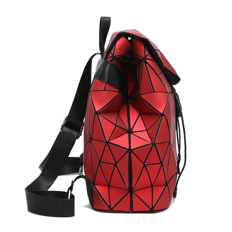 Nevenka Diamond Lattice Backpack Women Backpack Leather Creative Geometric Backpacks Drawstring Backpacks for Teenager Girl 201814