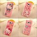 Новый Розовый мода мультфильм милый Котенок ангел кролик мягкая tpu кремния чехол для Samsung Galaxy Note 5 Note5 Note 7 note7