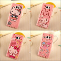 New Pink fashion cartoon cute Kitty angel rabbit soft tpu silicon case cover for Samsung Galaxy Note 5 Note5 Note 7 note7