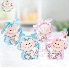 24 шт./компл. для маленьких девочек и мальчиков Бумага Подарочная коробка вечерние baby Shower конфетница, детская бутылочка для кормления День рождения украшения детский праздничный костюм