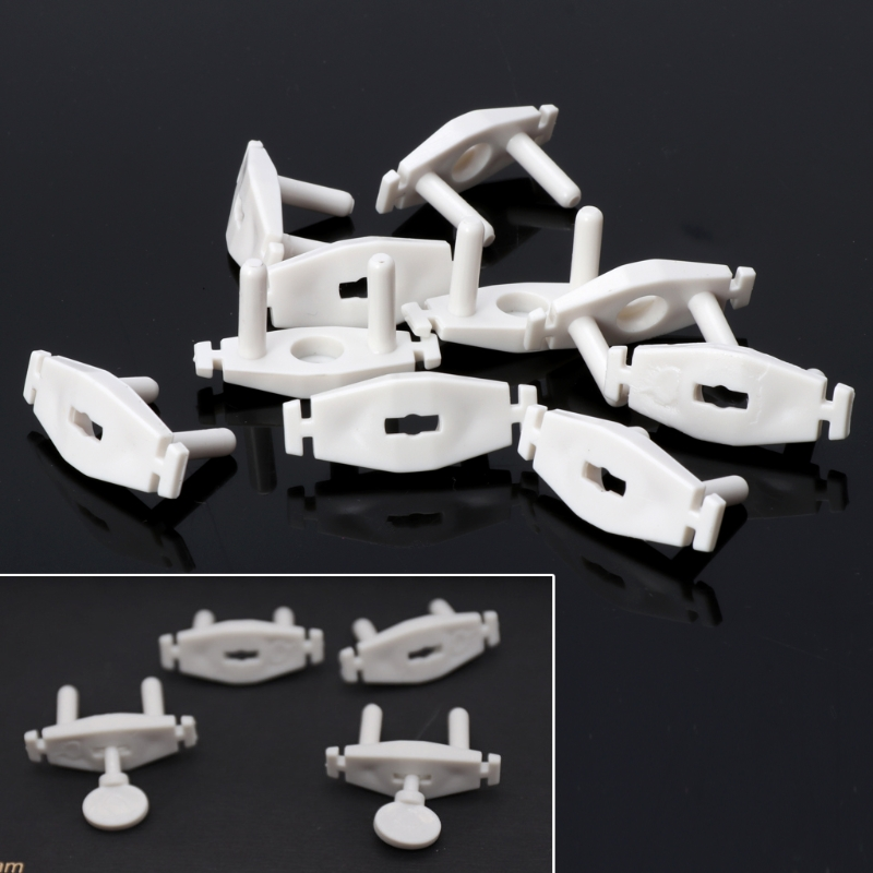 10pcs Power Socket Outlet Plug Protective ABS Cover Anti Electric Baby Safety Protector Double Security Protection Baby Safety