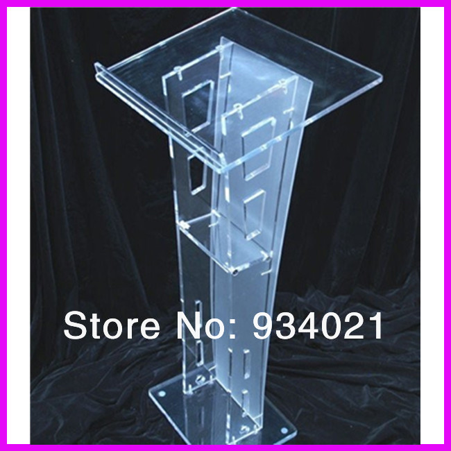 Slanted Top Modern Acrylic Lectern Podium Pulpit Free Shipping