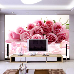 Custom-painted a large mural wall wedding room living room sofa bedroom TV background 3D wallpaper 3D wallpaper Romantic Rose 3d custom the house full of romantic love sea murals large mural peacock bedroom wallpaper tv wall wallpaper