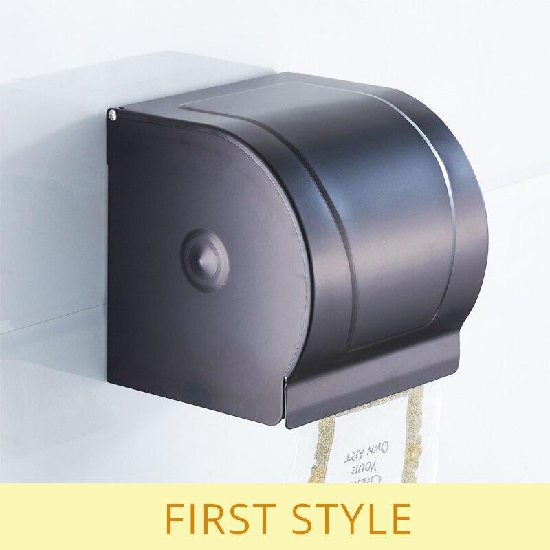 Wc Papier Zwart.Us 18 36 40 Off Flg Toiletrolhouder Rack Wandmontage Ruimte Aluminium Zwart Wc Papier Doos Badkamer Accessoires In Flg Toiletrolhouder Rack