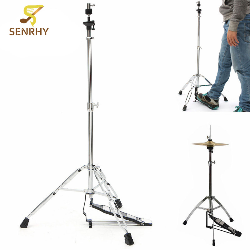 SENRHY 24-39 inch Hi-Hat Stand-Griffin HiHat Cymbal Hardware Drum Pedal Holder Mount For Percussion Musical Instruments Parts