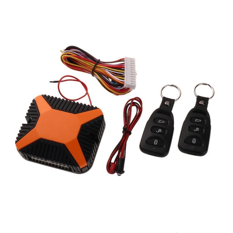 VODOOL Car Alarm Security System 12V Car Burglar Alarm Central Door Lock Keyless Entry Security System Car Key Remote Control