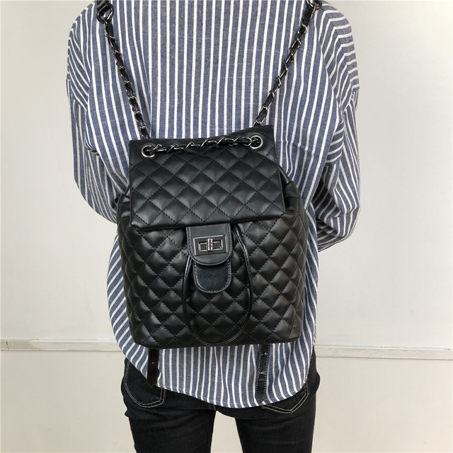 2019 marque de luxe Designer femmes en cuir sac à dos sac à dos décontracté sac adolescent école voyage sac à dos Mochila Escolar Militar