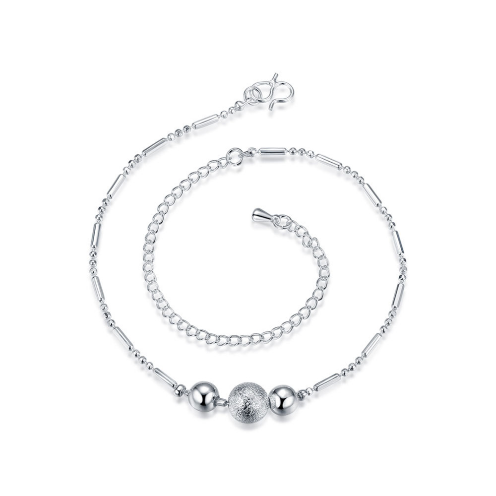 JEXXI New Charm Silver/Golden Bead Anklets for Women Ankle Bracelet Chain Crystal Foot Jewelry Wholesale Price