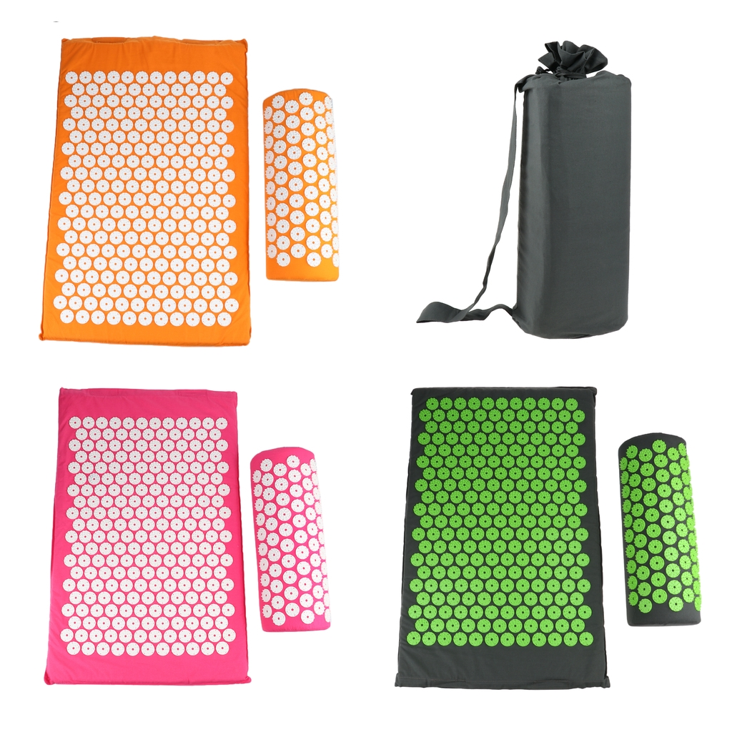 1pcs Acupressure Mat Pillow Neck Full Body Muscle Stress Therapy Massager Set