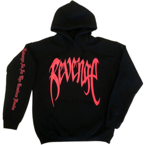 "Stocked Revenge XXXTENTACION Revenge ""KILL"" Hoodie Black/Orange Hooded Sweatshirt"