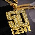 Hip hop ouro gótico longo 50 cent cadeia de acessórios colar de pingente de colares para mulheres homens jóias choker colar h0032