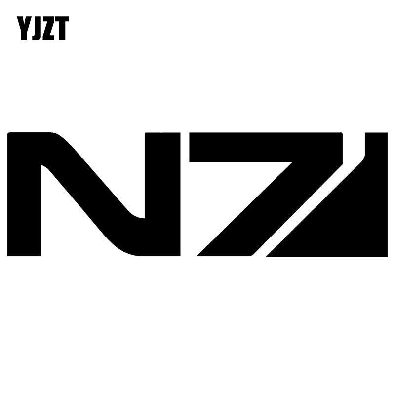 YJZT 15X4.9см масс эффект Н7 клей оригинальность стикера автомобиля виниловая наклейка черный/серебристый автомобиль-стайлинг С8-0610