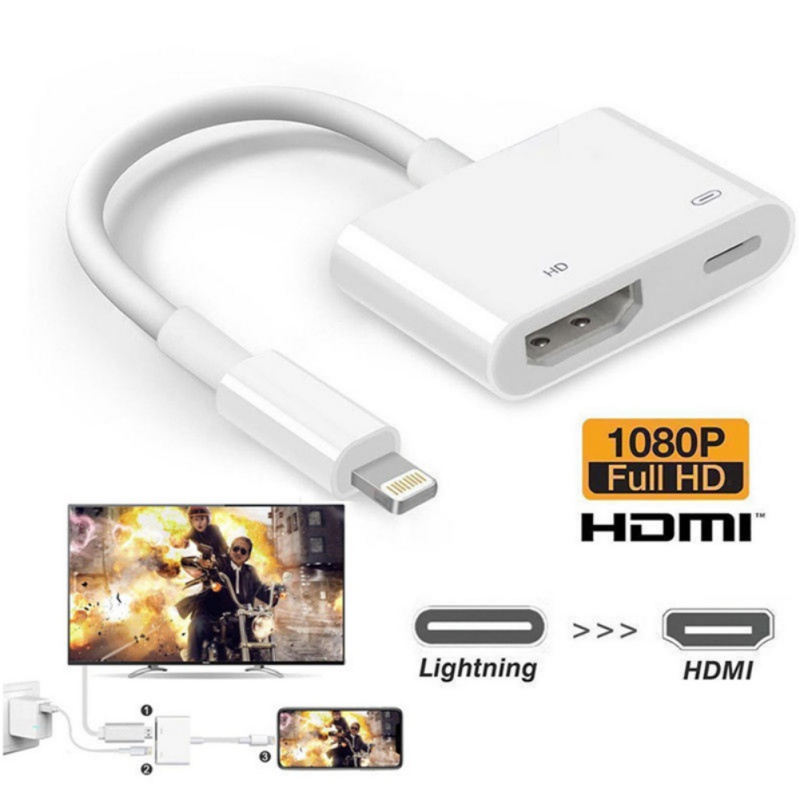 New Screen Converter Cable For Lightning To HDMI Plug-and-play High Definition Computer Projector Cord For IPhone X XR XS Max
