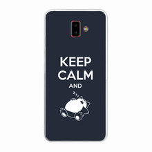 Soft Silicone Clear TPU Case for Samsung Galaxy J6 Plus J4 J7 J5 J3 2017 Durable Keep Calm and Carry On Cover(China)