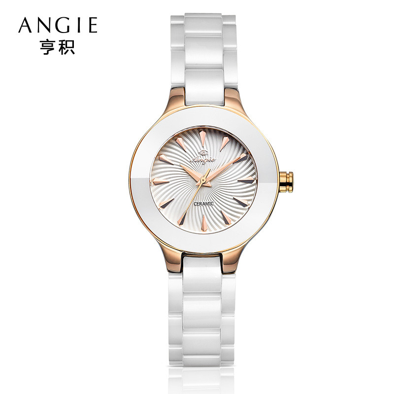 ФОТО Angie 2016 New Women Ceramic Watches Luxury Waterproof Watch Fashion&Casual Wristwatch Dress Watch Bracelet Watch Clocks B15