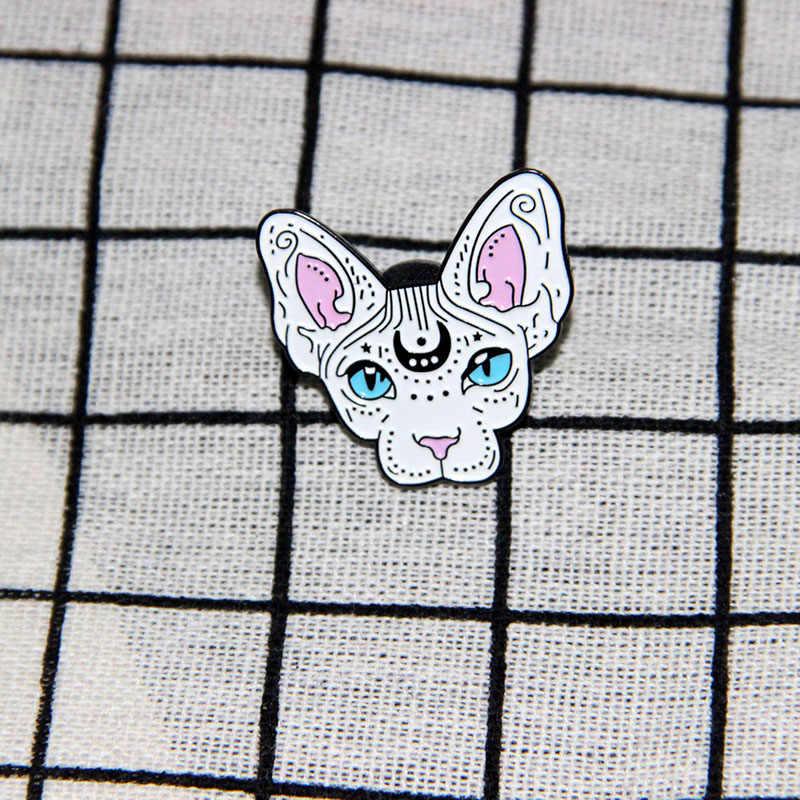 Sphynx Kucing Bros dan Enamel Pin Ransel Wanita dan Pria Topi Tas Kerah Pin