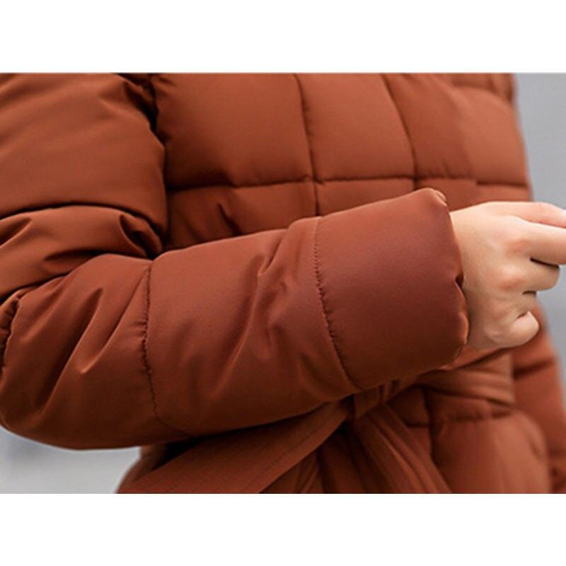 Vitage black Femmes red Brown Coton Long Green armi En grey Capuche Chauds Extérieur Nouveau Vêtements Manteau D'hiver Fourrure Mince Coton rembourré 2019 white À Dames Ac166 Vestes D'extérieur Solide Veste awqSx