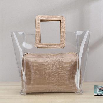 RanHuang 2019 Women Composite Bags Transparent Handbags Women's Fashion Beach Bags Summer Shoulder Bags Casual Handbags A1235 3