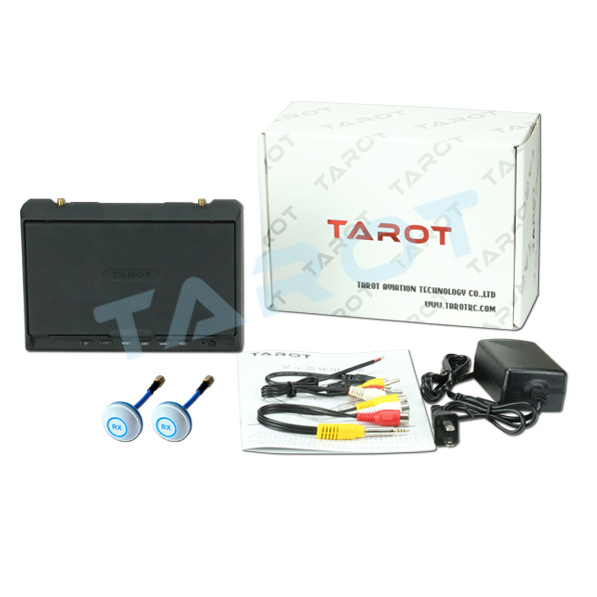 Tarot 5.8 G 32 Frequency Double Receiver 7 Inch LCD HD FPV Monitor Aerial Displayer Wireless AV Diversity RX TL2967
