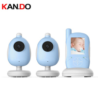 Baby Mnoitors IR Night vision Temperature Monitor Touchable Key Baby Intercom VOX Feeding Alarm baby monitor 2 cameras monitor