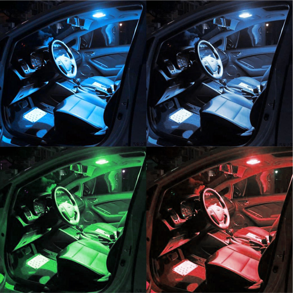 Led Verlichting Voor Auto Us 7 74 20 Off 2pcs Dc12v Rgb Car Interior Lighting Bulb Led Reading Light Automobiles Atmosphere Led Lamp Inside Space Decorative Dome Light In Led