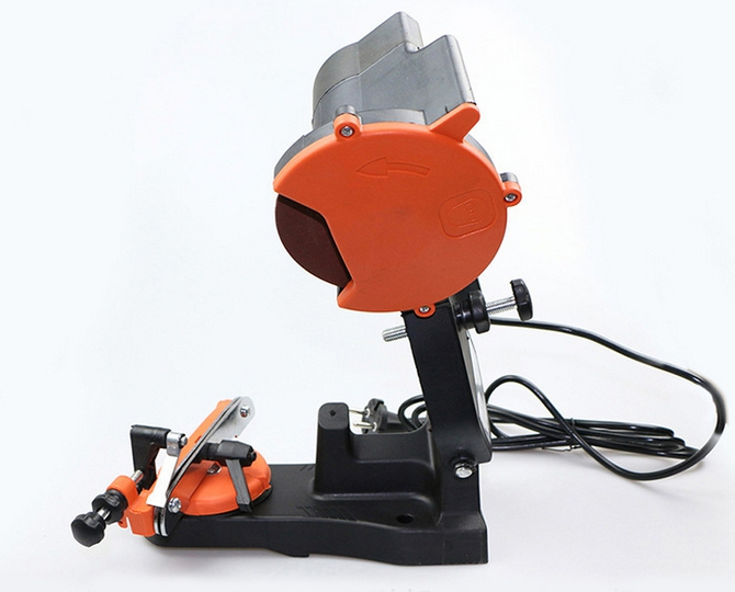 230V 85W Bench Type Small Electric Chain Grinder/Grinding Tool/Sharpener Applied for Gasoline Chainsaws or Electric Chainsaws vertical type abrasive sand belt machine polishing grinding belt grinders small bench 915 q10029